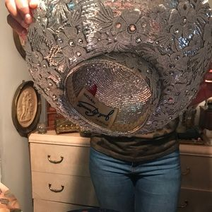 Used, Beautiful Silver Jack McConnell Hat for sale